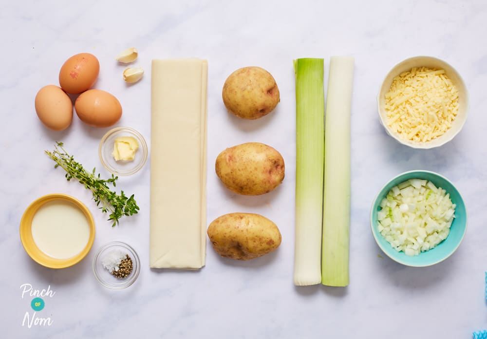 Homity Pie - Pinch of Nom Slimming Recipes