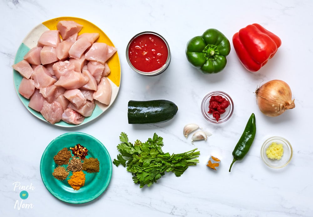 Chicken Jalfrezi - Pinch of Nom Slimming Recipes
