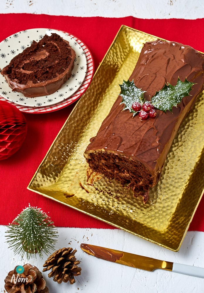 Christmas Chocolate Log - Pinch of Nom Slimming Recipes