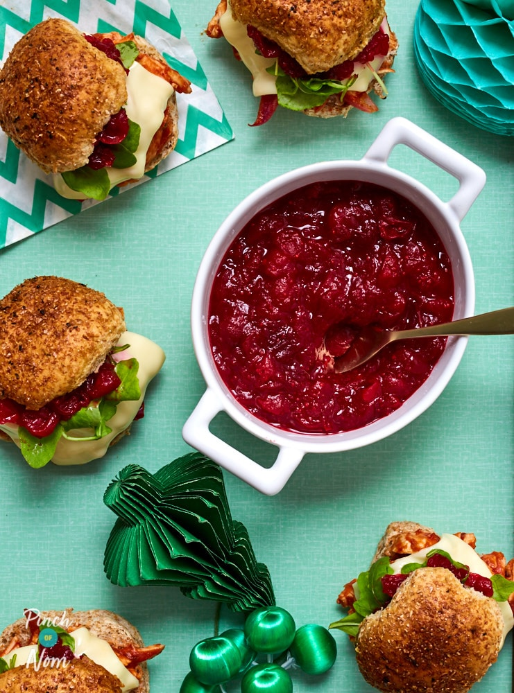 Cranberry and Pomegranate Sauce - Pinch of Nom Slimming Recipes