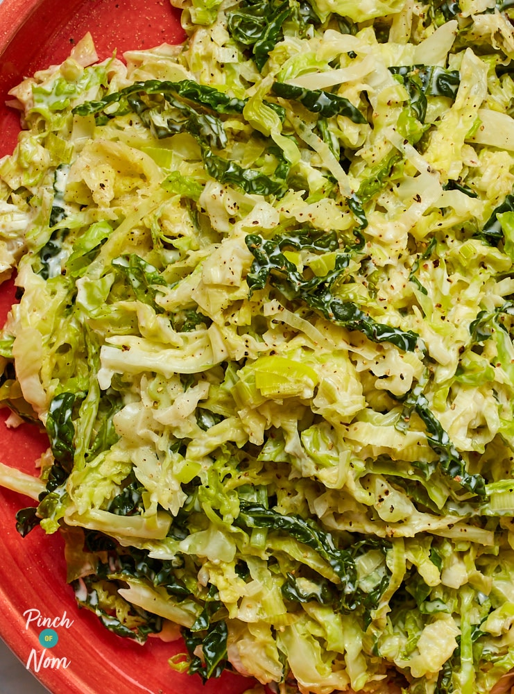 Creamed Cabbage and Leeks - Pinch of Nom Slimming Recipes
