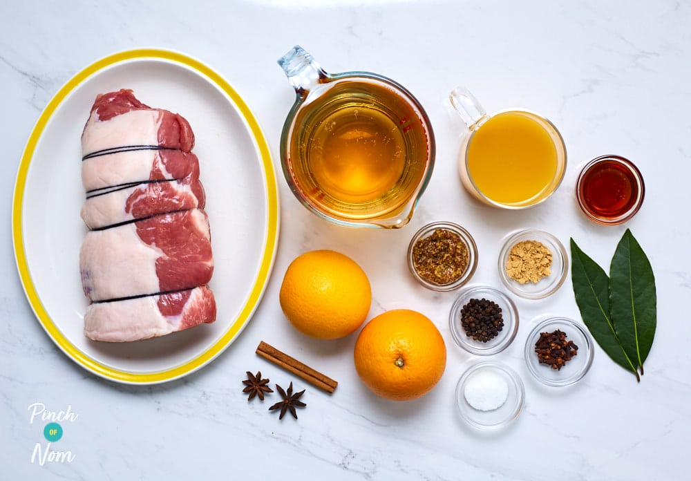 Ginger and Orange Glazed Ham - Pinch of Nom Slimming Recipes