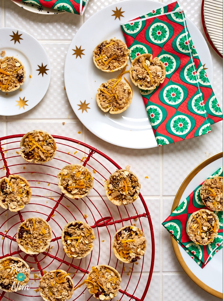 Mini Spiced Orange Mince Pie Crumbles - Pinch of Nom Slimming Recipes