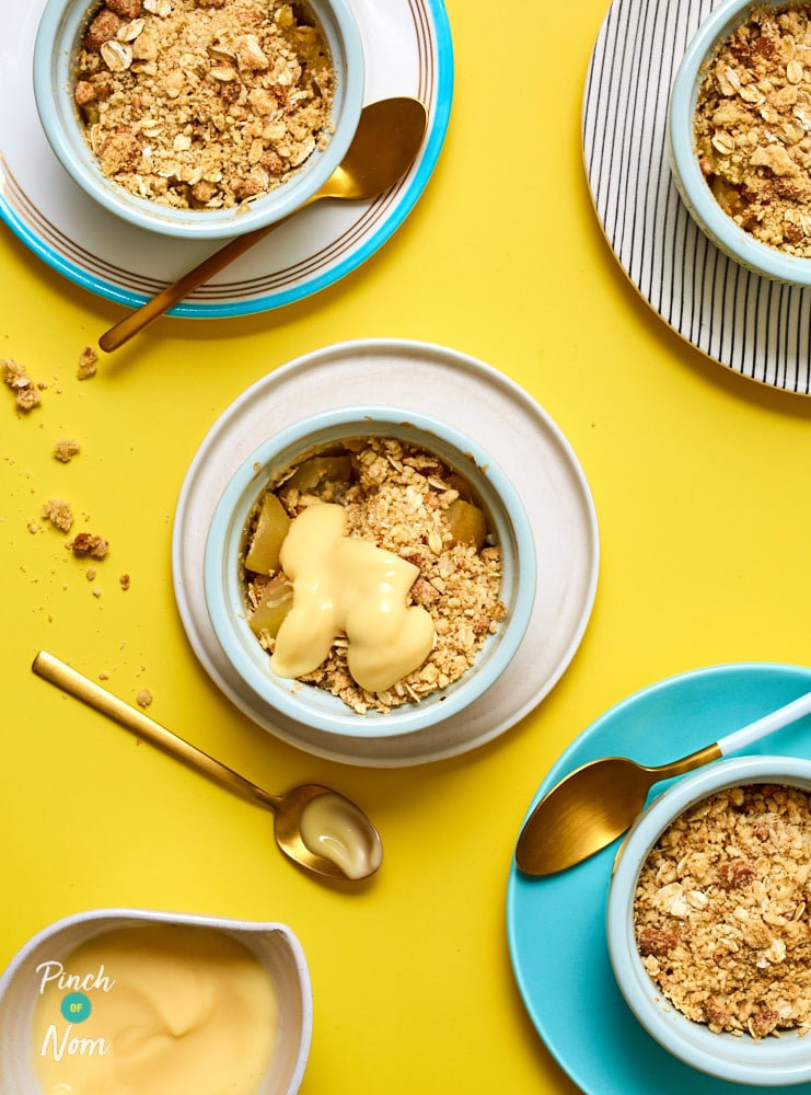 Pear and Ginger Crumble - Pinch of Nom Slimming Recipes