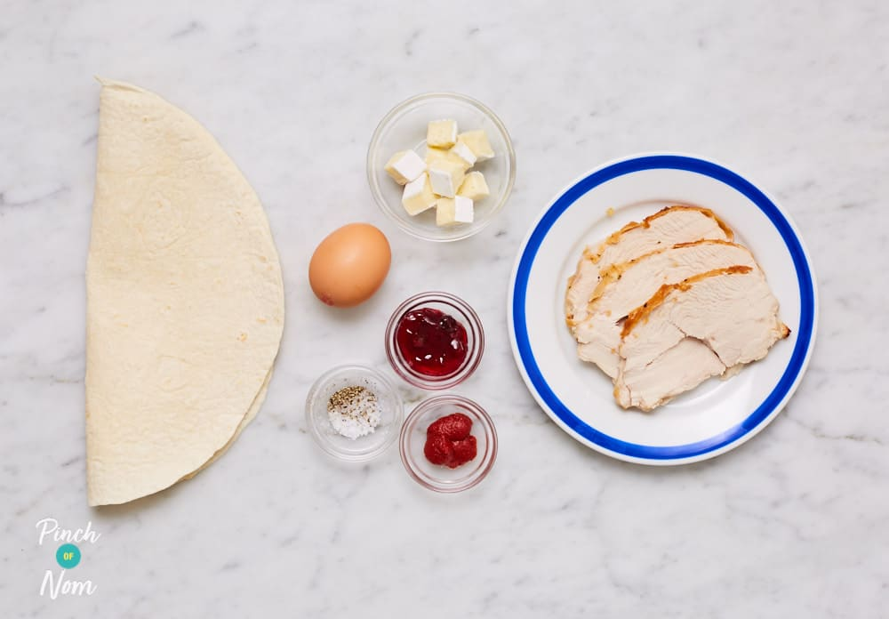 Christmas Calzone - Pinch of Nom Slimming Recipes