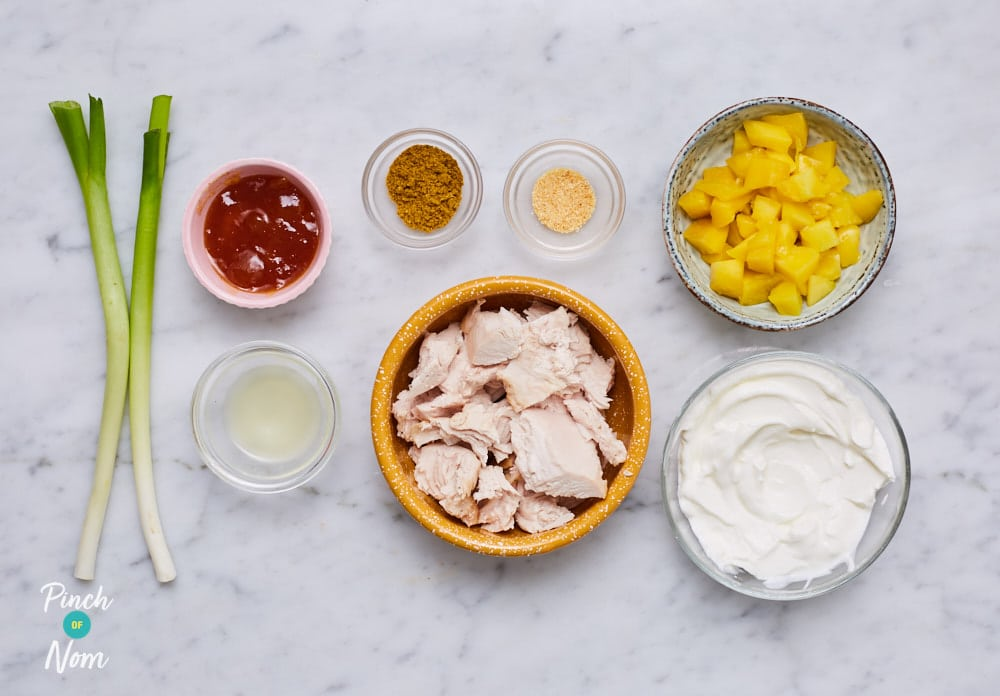 Coronation Turkey - Pinch of Nom Slimming Recipes