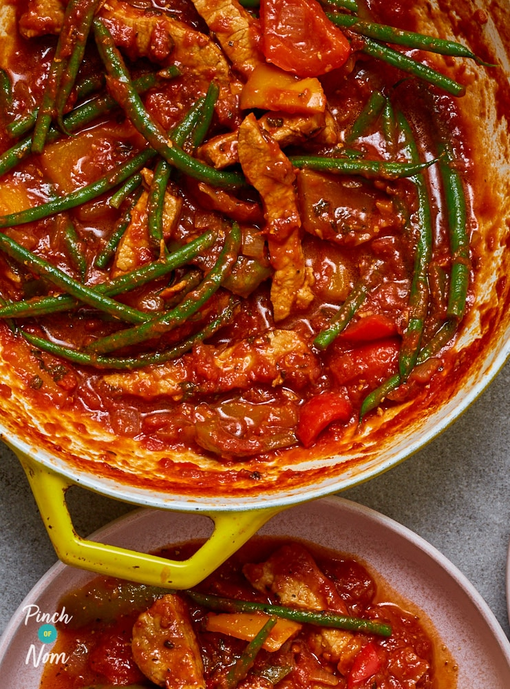 Pork and Pepper Stew - Pinch of Nom Slimming Recipes