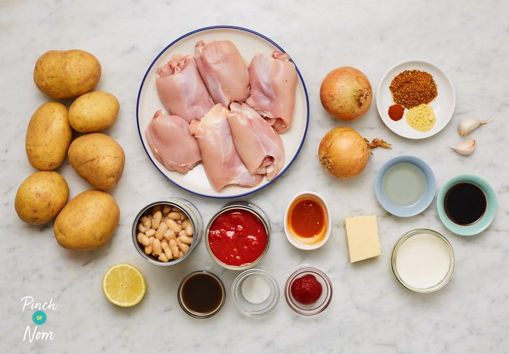Smoky BBQ Chicken Pie - Pinch of Nom Slimming Recipes
