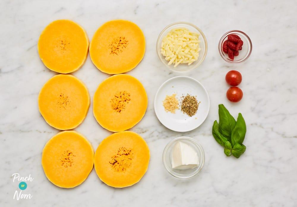 Squash Pizza Slices - Pinch of Nom Slimming Recipes