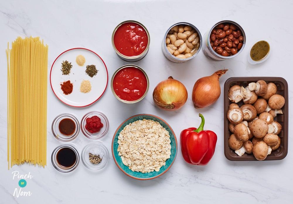 Vegan Spaghetti and Meatballs - Pinch of Nom Slimming Recipes