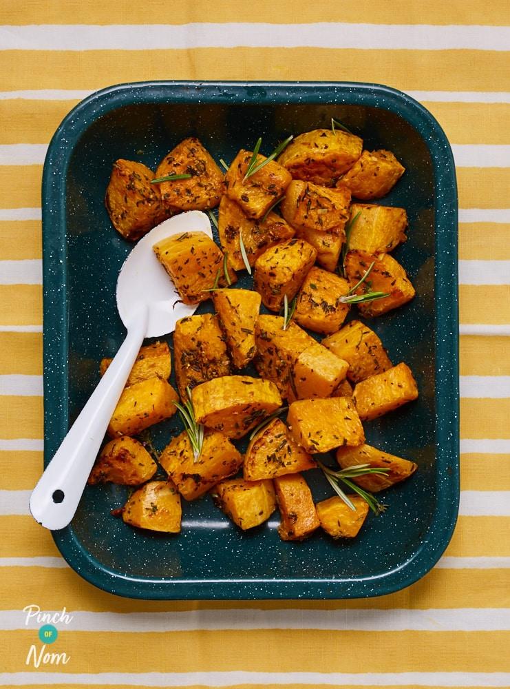 Butternut Squash Roasties - Pinch of Nom Slimming Recipes