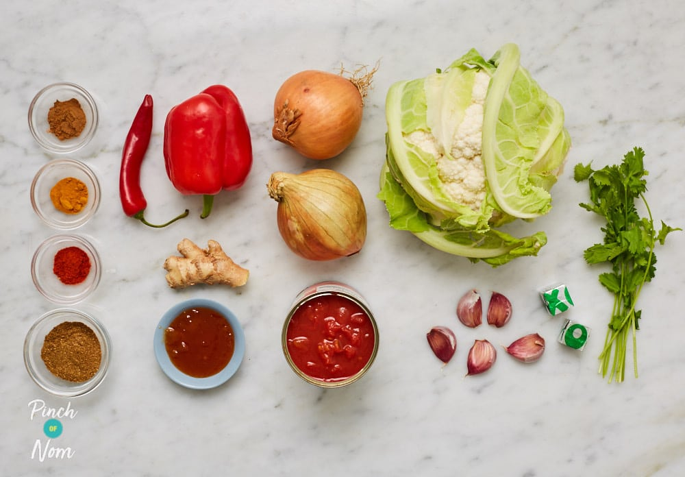 Cauliflower Madras - Pinch of Nom Slimming Recipes