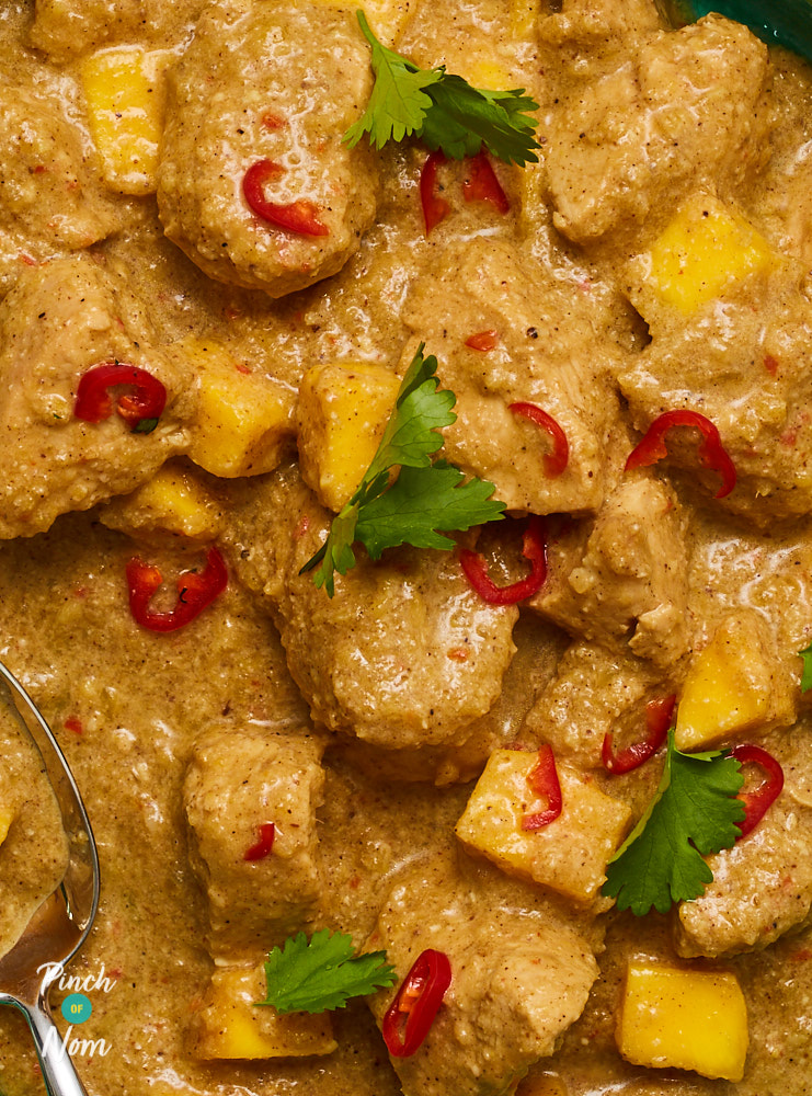 Turkey and Mango Curry - Pinch of Nom Slimming Recipes