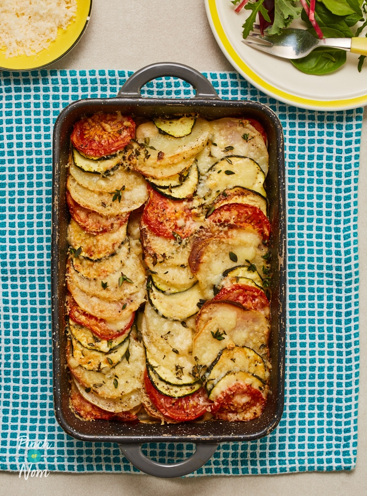 Cheesy Courgette Gratin - Pinch of Nom Slimming Recipes