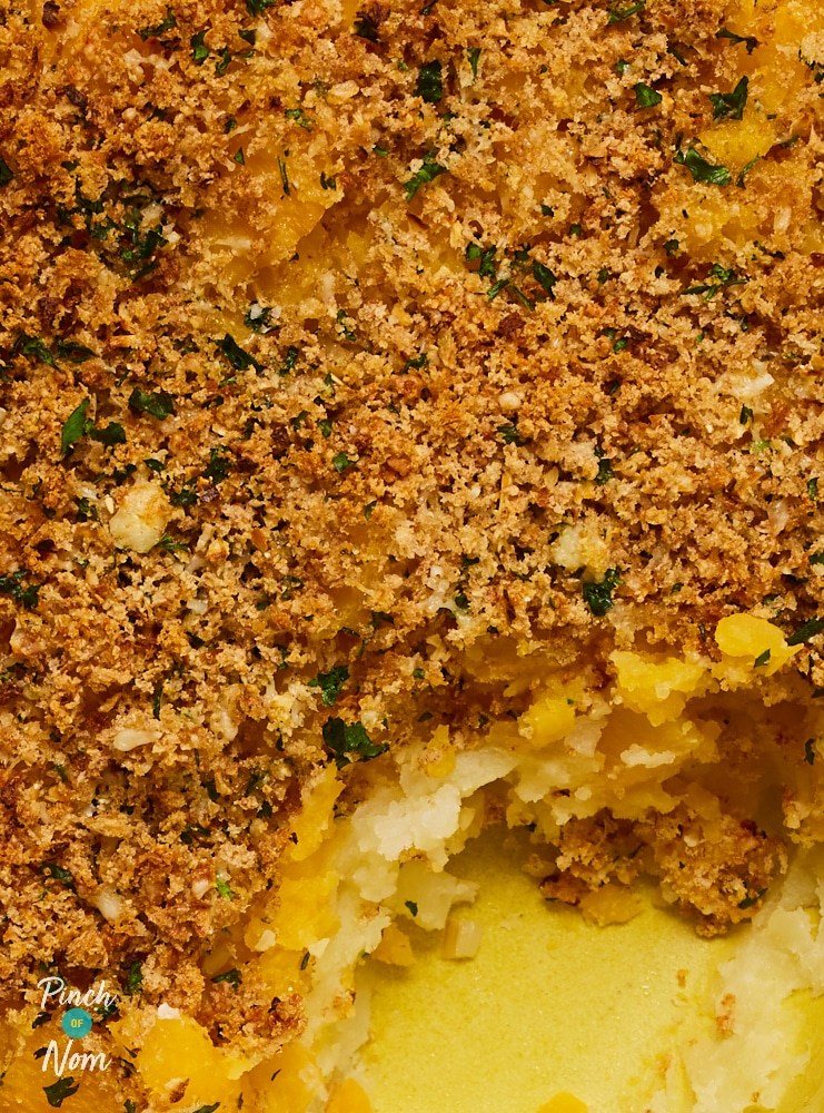Layered Potato and Swede Gratin - Pinch of Nom Slimming Recipes