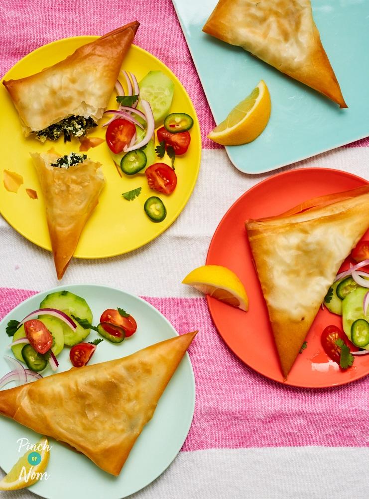 Spinach and Ricotta Samosas -Pinch of Nom Slimming Recipes