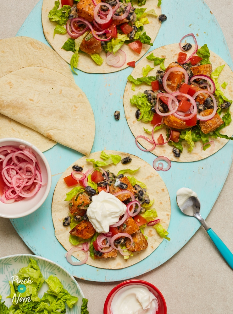 Sweet Potato and Coconut Tacos - Pinch of Nom Slimming Recipes