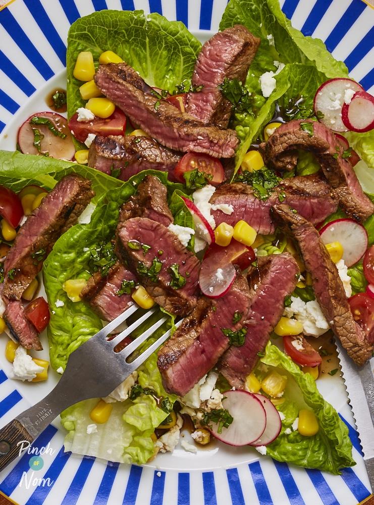 Balsamic Steak and Feta Salad - Pinch of Nom Slimming Recipes