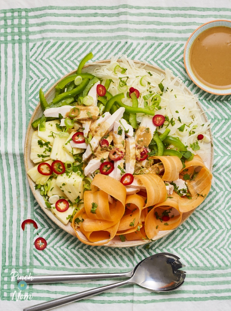 Chopped Thai Chicken Salad | Pinch of Nom Slimming Recipes