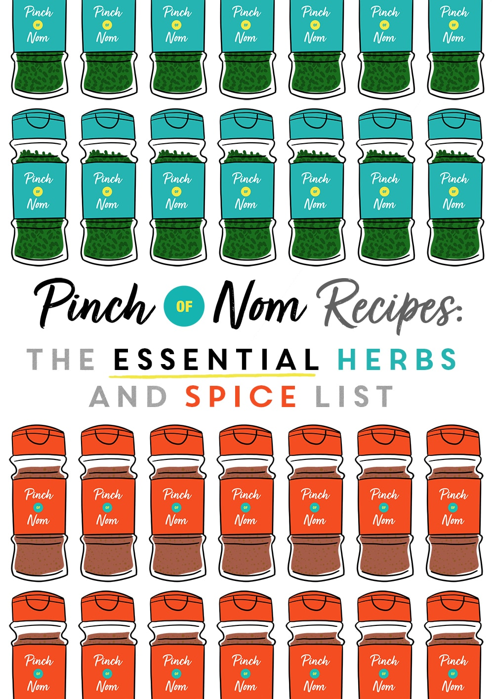 The Essential Herbs and Spice List - Pinch of Nom Slimming Recipes