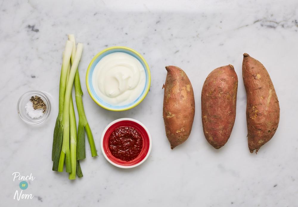 Sweet Potato and Harissa Salad - Pinch of Nom Slimming Recipes