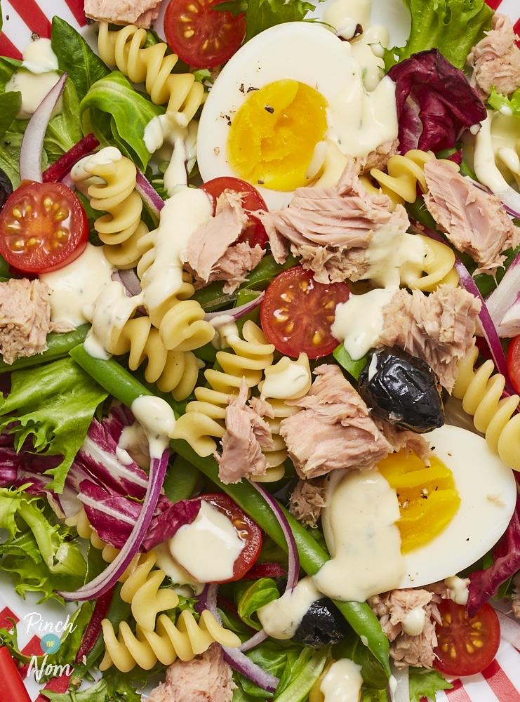 Tuna Nicoise Pasta Salad - Pinch of Nom Slimming Recipes