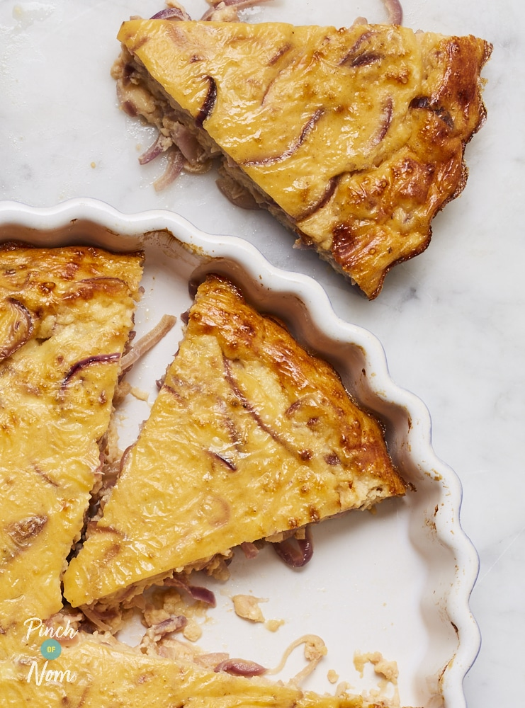 Caramelised Onion Quiche - Pinch of Nom Slimming Recipes