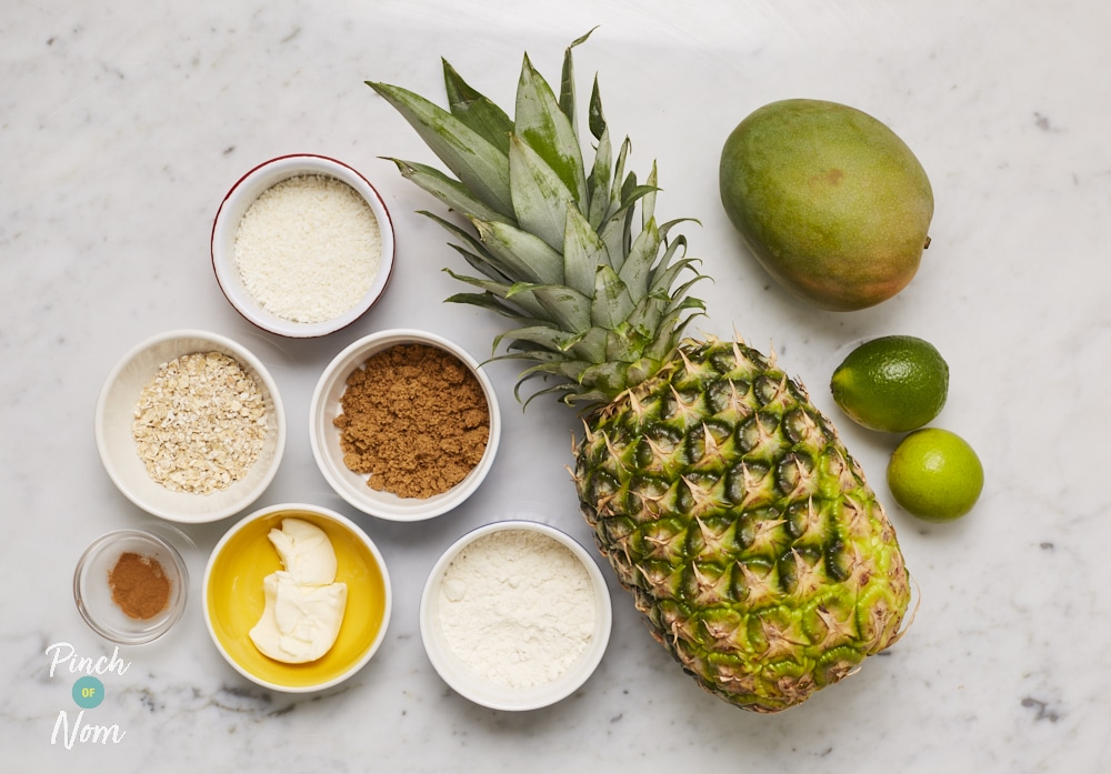 Tropical Crumble | Pinch of Nom Slimming Recipes