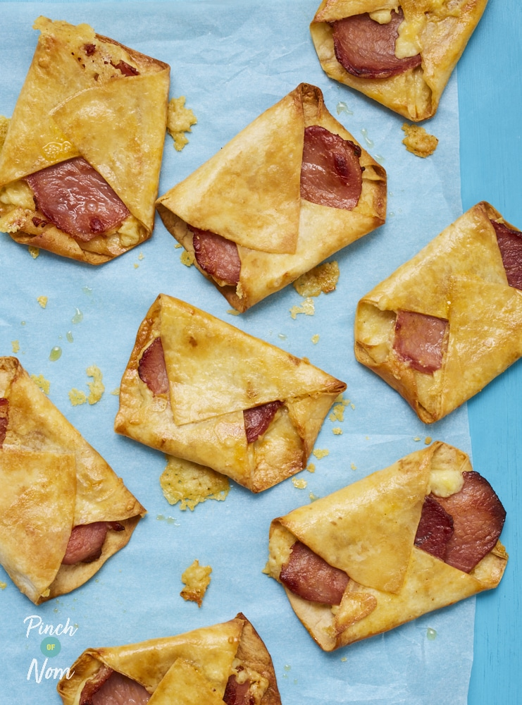 Bacon and Cheese Turnovers - Pinch of Nom Slimming Recipes