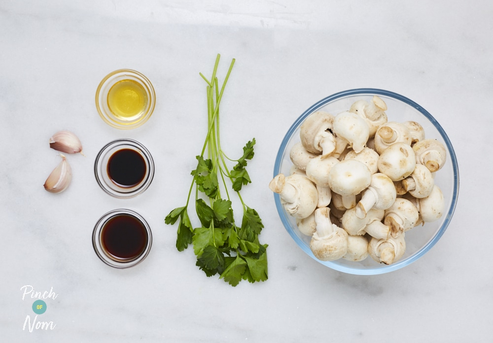 Balsamic Mushrooms - Pinch of Nom Slimming Recipes