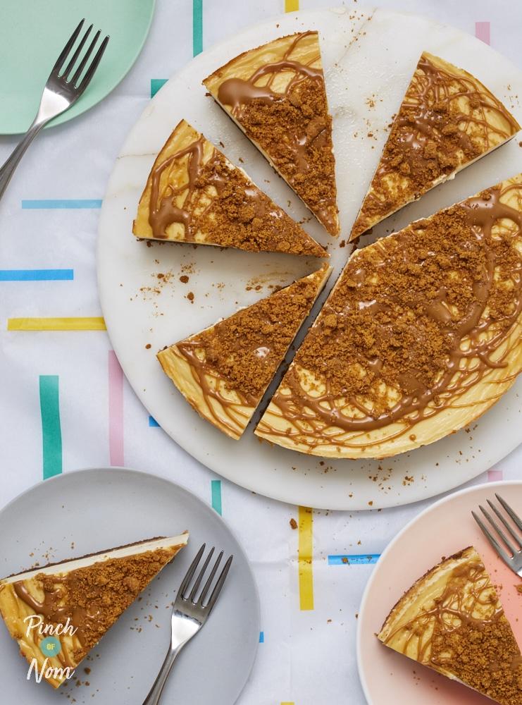 Biscoff Cheesecake - Pinch of Nom Slimming Recipes