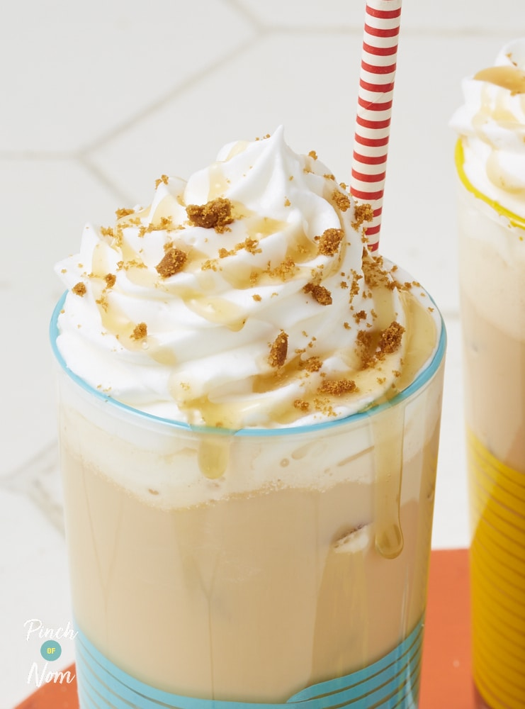 Biscoff Cookie Milkshake - Pinch of Nom Slimming Recipes