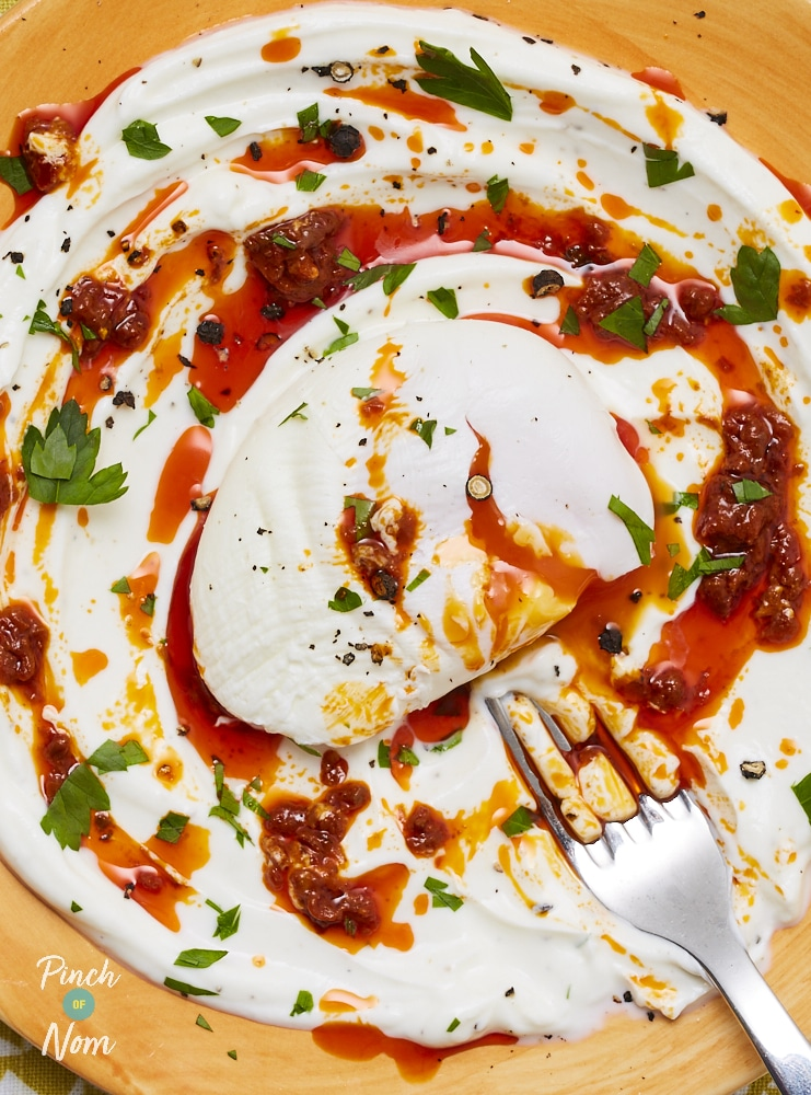 Turkish Style Eggs - Pinch of Nom Slimming Recipes